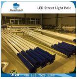 via solare poligonale galvanizzata Hot-DIP LED palo chiaro del Anti-Vento 10m