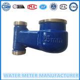 Medidor de água vertical da instalação do corpo de bronze de Dn25mm