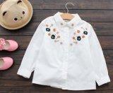 نمو [ليتّل جرل] طبع أقمصة أبيض قميص جميل