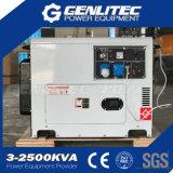 gerador Diesel silencioso do motor Diesel de 5.5kw/6.0kw 13HP (DG7500SE com DE188FAE)