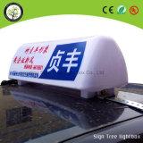 LED-Taxi, das hellen Kasten bekanntmacht