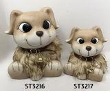 Figurine decorativo bonito da estátua do cão de filhote de cachorro