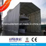barraca resistente de alumínio do armazenamento do armazém de 30m grande com obturador de rolamento