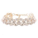 方法贅沢な極度のきらびやかなラインストーンのダイヤモンドの不足分のチョークバルブのネックレスの宝石類