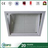 Ventana de la vuelta de la inclinación del PVC, ventana interior de las persianas dobles del vidrio