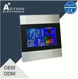 De digitale Kleurrijke LCD Wekker van de Temperatuur van het Scherm BinnenMet Weerstation