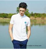 camicia di polo del Mens 100%Cotton con il marchio su ordinazione del ricamo
