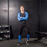 Abiti sportivi correnti di forma fisica del camuffamento di ginnastica di compressione dell'uomo