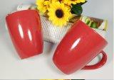 Taza de café de cerámica barato modificada para requisitos particulares de los pares