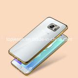 Chiffre d'élégance caisse Electroplated de téléphone de TPU pour le bord de Samsung S6 plus