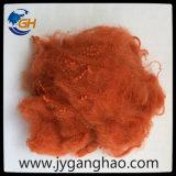 Polyester-Spinnfaser in der Orange