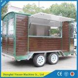 Reboque de madeira personalizado Ys-Fw450 do gelado do caminhão do alimento do reboque