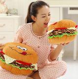 햄버거 견면 벨벳에 의하여 채워지는 베개 방석