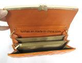 Pochette en cuir d'unité centrale de femmes de mode avec le modèle de bâti en métal de guindineau