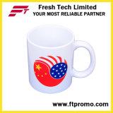 Taza de cerámica promocional modificada para requisitos particulares chino con su insignia