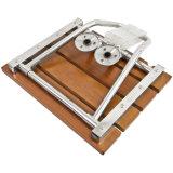Plegamiento montado en la pared de madera encima de la silla de ducha del asiento del cuarto de baño