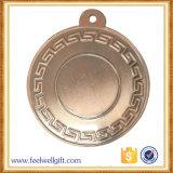 Medalla en blanco de cobre amarillo de bronce antigua modificada para requisitos particulares de la pieza inserta