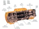 Chariot de déplacement CD à DM élévateurs électriques de câble métallique de 0.5 tonne