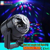 LED RGB 3 * 1W мини LED Magic Ball Light Оптовая Mini Stage Light Party Light
