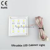 Luz quadrada do disco da luz do gabinete do diodo emissor de luz para a mobília