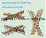Conector de metal recubierto de papel Clavo de tira de papel para clavos