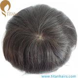 """1/8 do """" dos homens superiores do cabelo humano da pele dianteira laço de Toupee 7 """" X9 """""""