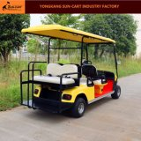 6 Seater elektrische Golf-Karre für Golfplatz (mit hinteren Kippensitzen)