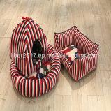 고아한 빨강은 고양이 집 가구 애완 동물 감금소 침대를 줄무늬로 한다