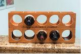 Crémaillère d'étalage en bois à la mode de crémaillère de vin de 5 bouteilles pour la maison