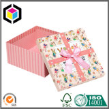 Caisse d'emballage de papier de bijou de cadeau de carton de texture avec le couvercle