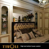 Armadio di legno solido della mobilia della camera da letto degli appartamenti e cucine su ordinazione Tivo-011VW