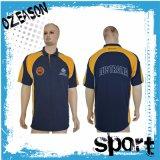 Chemise de polo faite sur commande de sports d'hommes de femmes de mode de coton de qualité