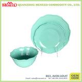 De modieuze Trillende Groene Reeks Van uitstekende kwaliteit van het Diner van de Melamine van de Kleur