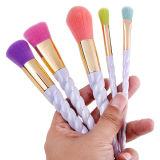 Profesional 5 piezas de maquillaje kit de cepillo con suave coloridos cabello