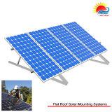 Structure de picovolte de toit plat pliée montant le panneau solaire (LO9T)