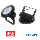 Luz elevada 100W 12500lm a Philips Meanwell do louro do diodo emissor de luz do UFO
