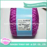 Prezzo mercerizzato 40s poco costoso di lavoro a maglia del filo di cotone di colore di sconto