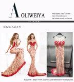 Vestido de noche rojo de la ocasión especial del partido de la sirena de Aoliweiya