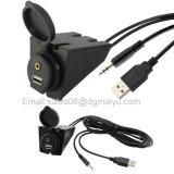 2 zetten de meters van de Lengte USB & de Vloed van de Uitbreiding Aux van 3.5mm 6.5 Voet van de AudioKabel op