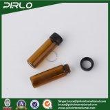 frasco de petróleo essencial ambarino do vidro da cor 5ml com o parafuso de vidro da amostra da tampa do parafuso em frascos de perfume