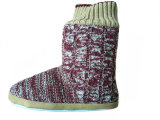 Ladies Casual Cute Warm Knitted Soft Boots para o inverno
