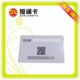 Tarjeta elegante en blanco plástica de RFID con el sistema terminante del control de calidad