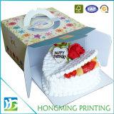 마분지 생일 케이크 상자를 나르십시오