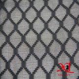 Schwarzer Diamant-Jacquardwebstuhl-Silk Chiffon- Gewebe für Kleid
