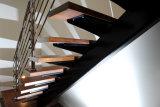L 모양 강철 목제 똑바른 계단