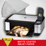 Papel revestido enmarañado de la foto de la talla del rodillo del papel de la foto de la inyección de tinta del formato