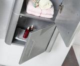 Шкаф мебели ванной комнаты лака мычки установленный стеной с зеркалом