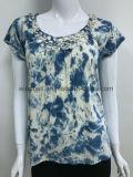 크로셰 뜨개질을%s 가진 여자를 위한 새로운 디자인 t-셔츠는 매 염색한다