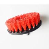 Cepillo de pulido del taladro rojo redondo de la cerda de la alta calidad