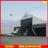 알루미늄 구조에 저항하는 거대한 서쪽 항공기 격납고 바람